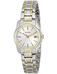 Bulova Womens 98M105 Silver Dial Bracelet Watch