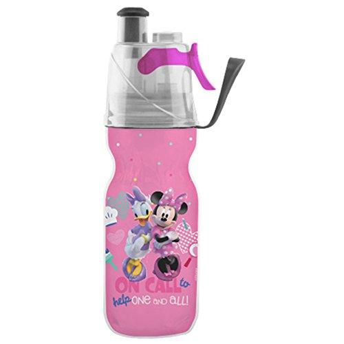 O2COOL HMCM122 Mist 'N Sip Bottle Water, Minnie -