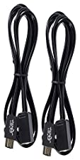 Super Nes Mini 2017 Extensions [2x] Cables Bundle Version Compatible Nes Mini Nintendo Edition 6ft Extend Link Cable For Nintendo Mini SNES 1.8m by Mario Retro