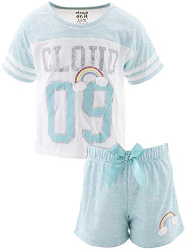 - Sleep On It Big Girls' Cloud Nine Blue Short Pajamas M/10-12