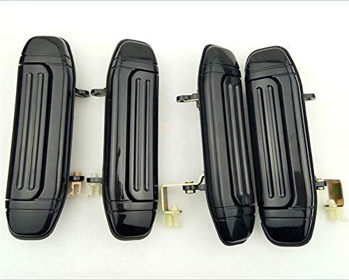 NO LOGO KF-Mango Mango 4pcs del Sistema Completo del Frente del Coche Posterior Exterior de la Puerta Negro for Mitsubishi Pajero Montero V31 V32 V33 V43 V46 V47