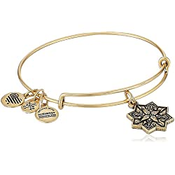 Alex and Ani Healing Love II Bangle Bracelet, Rafealian Gold, Expandable
