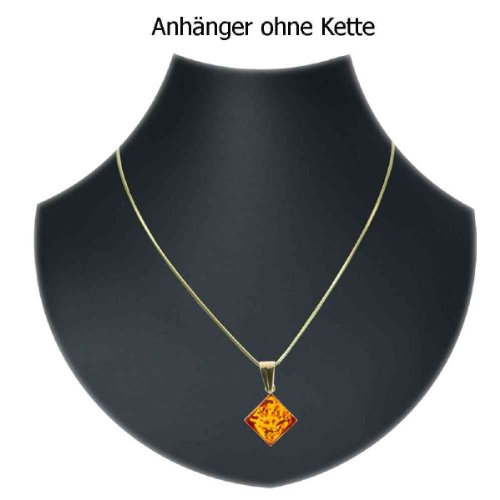 In Collections - 0010103517L100 - Pendentif Femme - Or jaune 333/1000 (8 cts) - ambre