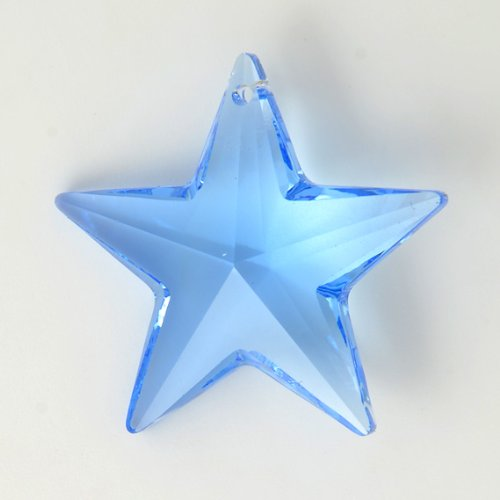 29 mm Swarovski 8815 Strass Crystal STAR Pendant by 2 PCS, Medium Sapphire