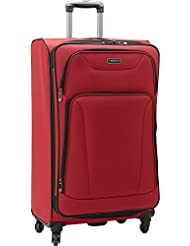 Heritage Wicker Park 28 Upright Suitcase, Red