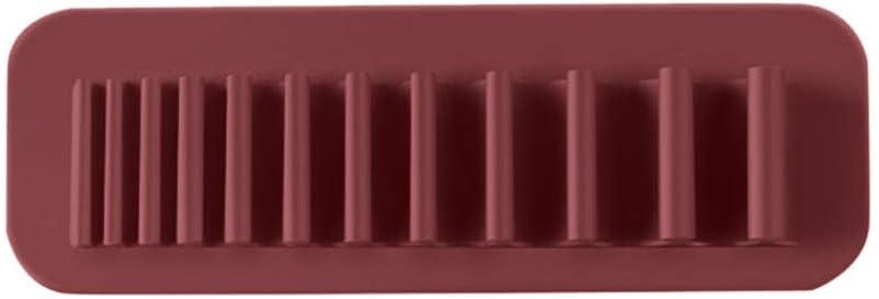 Deng Xuna Make-up Pinselhalter Wand-Silikon Kosmetik Make-up Stifthalter W/äschest/änder Zahnb/ürstenhalter Schreibwarenhalter Bad Organizer Lagerregal Speicherhalter 20 /× 7 cm