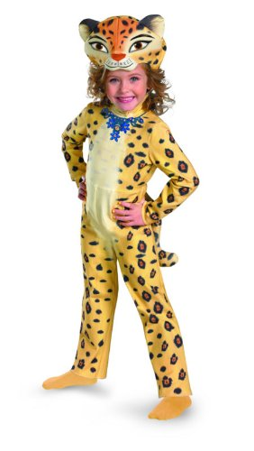 Madagascar 3 Gia The Leopard Deluxe Costume, Yellow/Black, Medium