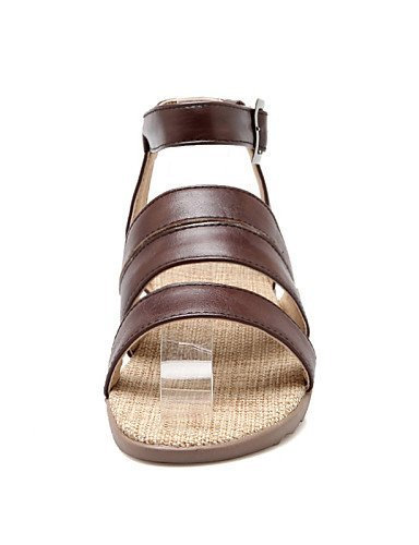 Beige Beige ShangYi Flat Open Toe Sandals Women's Outdoor Brown Shoes Casual Dress Heel Black qngHOp