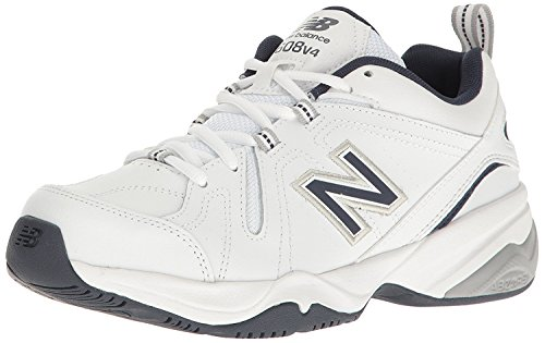 New Balance Mens MX608v4 Training Shoe, Blanco/azul marino, 45.5 4E EU/11 4E UK