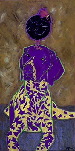 (German Shorthaired Pointer Wall Art - Humorous Dog Art Prints, Pop Art by Angela Bond )