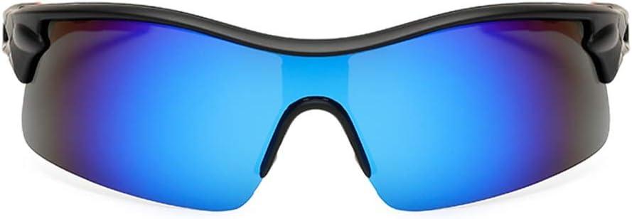 M.J.ZUR Bicicleta Ciclismo Gafas Gafas de sol Gafas de protección al aire libre Polarizadas Gafas de sol deportivas for hombres y mujeres Béisbol Tenis (Color : Azul, Size : Gratis)