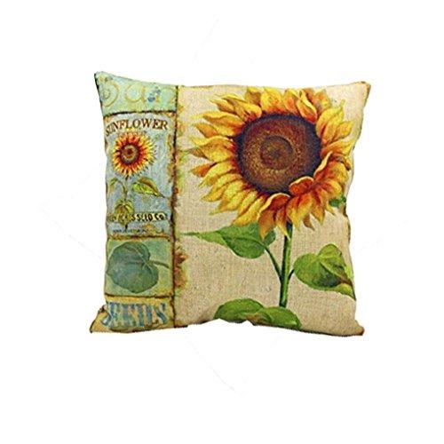 Sunflower Pillow Case For Sofa