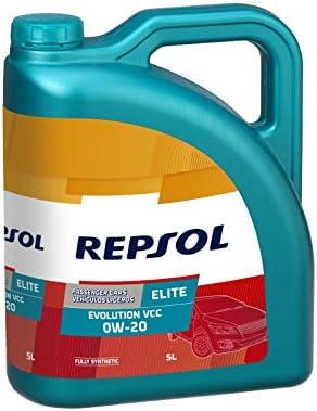 Repsol RP141D55 Elite Evolution Vcc 0W-20 Aceite de Motor para Coche, 5 L