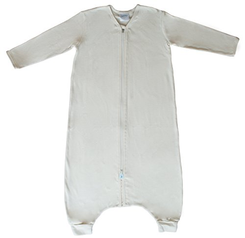 CastleWare Baby Organic Rib Knit Sleeper Bag for Walkers- Long Sleeve- (XL/2T, Natural) (Best Baby Back Ribs In Los Angeles)