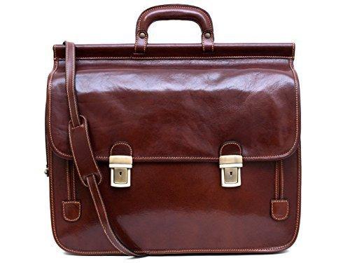 c959a81210 Borsa pelle valigetta 24 ore XXL uomo donna cartella portadocumenti borsa a  tracolla e mano in