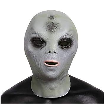 YXBB Máscara de Terror de látex Masquerade Ball Disfraz Horror ...