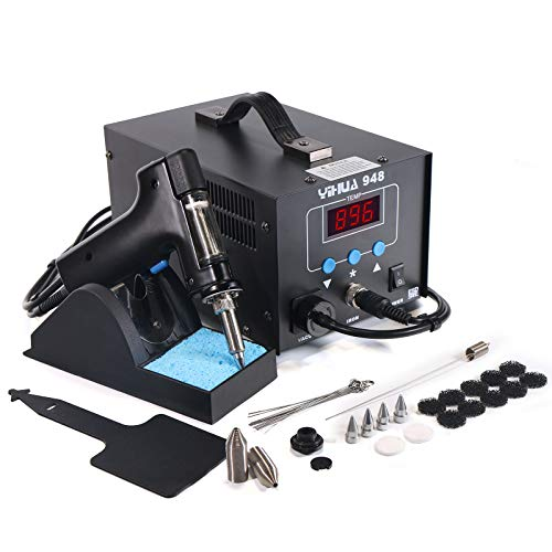 YIHUA 948 Desoldering Station, 80W, with Auto Shutoff, Variable Precise Temperature (662°F ~ 896°F), ºC/°F display, Sleep Function and More.