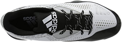 adidas Mens Freak X Carbon Mid Baseball Shoe White/Black/Silver Metallic ETXxykSuc