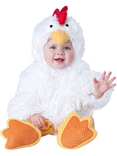 InCharacter Baby's Cluckin' Cutie Chicken Costume, White, Small ()