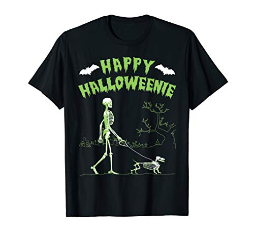 Halloween Dachshund Shirt - Happy Halloweenie ()
