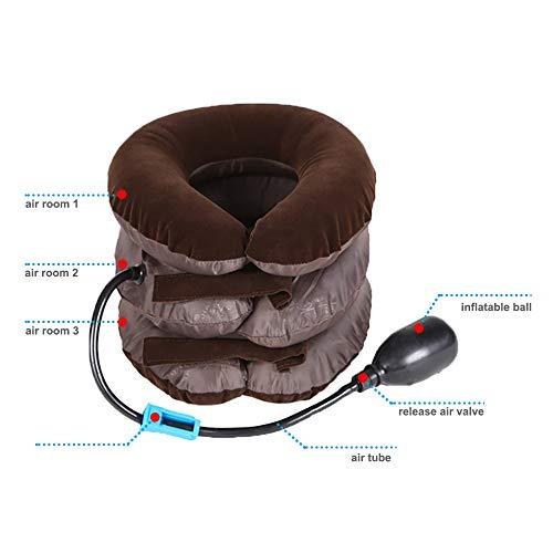 Enshey Inflatable Neck Traction Pillow Blow Up Cervical Vertebra Tractor Traction Massage Neck Back Shoulder Pain by Enshey (Image #1)