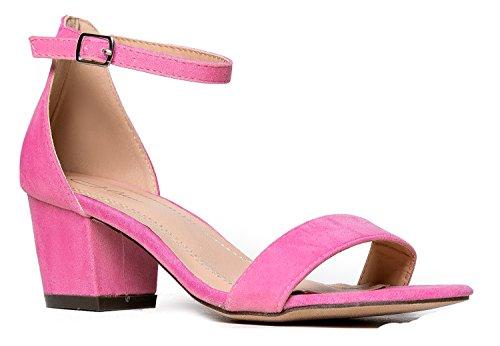 ( J. Adams Daisy Mid Heel Sandal Rose Pink 5.5 B(M) US)
