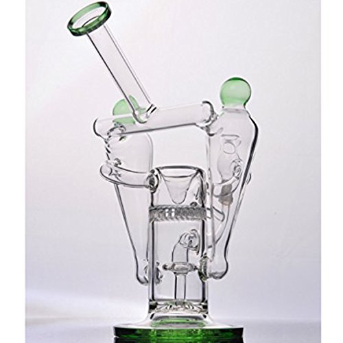 Glass-100 Newest 9 Inch Tall 14 mm Joint Style Glass Filter Cup Pipes(Random color)