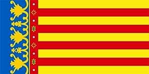 Pegatina vinilo impreso para coche, pared, puerta, nevera, carpeta, etc. Bandera de valencia