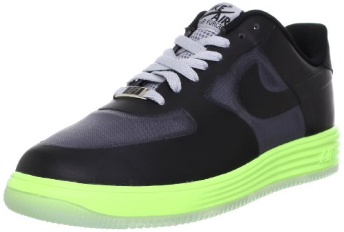 nike lunar force 1 fuse Lthr mens trainers 599839 shoes sneakers (UK 7.5 us 8.5 EU 42, dark grey black flash lime 002)
