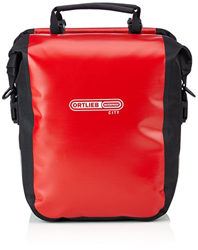 Ortlieb Front-Roller City Front Pannier: Pair; Red/Black