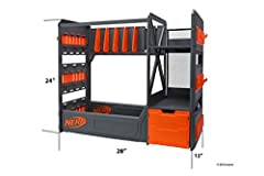 Elite battlers can stay prepared with the Nerf Elite blaster rack! Ensure easy access to all your firepower with storage for up to 20 blasters, plus shelving and a drawer for lots of ammo and accessories! When your blasters are organized in t...