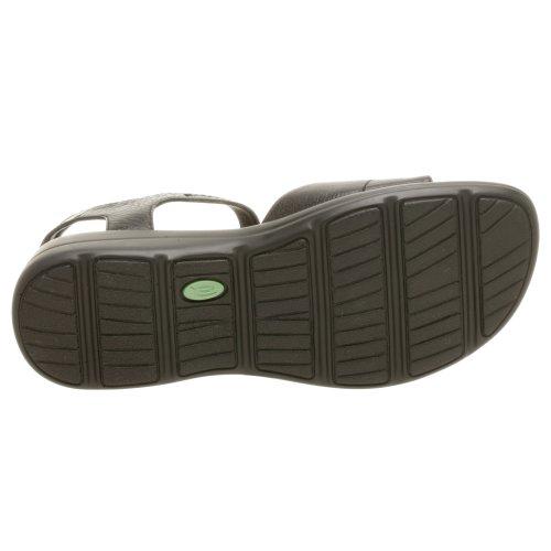 Sandalo Easyends Da Donna Spiritoso, Pelle Nera, 11 M