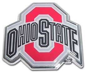 MVP Accessories NCAA Metal Auto Emblem with Colored Team Logo