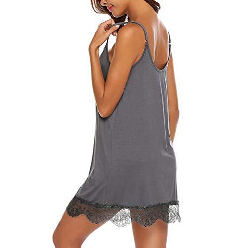 Pervobs Womens Sexy Lace Babydoll Sleepwear Nightwear Camisole Mesh Loose Lingerie Underwear Lingerie(XL, Brown) by Pervobs Lingerie & Sleepwear (Image #3)