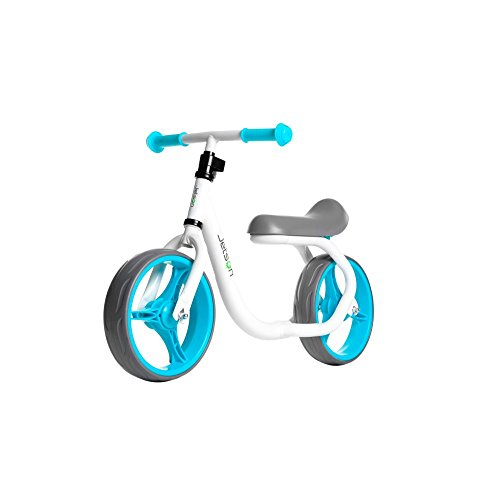 Jetson Blue / White Gravity Balance Bike Kid Ride-On Push - Bonus Free Stickers to Customize Look - Child Training Bike Ages 2 to 5 Years - Simple, Fun, No Pedal, Easy Assembly