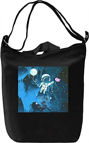 I Love You Borsa Giornaliera Canvas Canvas Day Bag| 100% Premium Cotton Canvas| DTG Printing|
