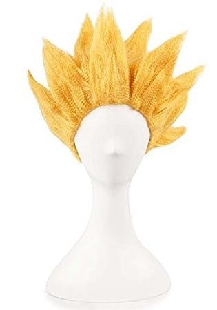waygo Goku de bola de dragón Anime Corto Partido Cosplay Pelucas (Golden): Amazon.es: Belleza