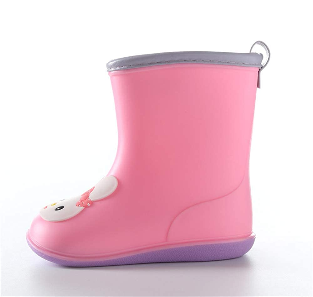 Waterproof Rubber Printed with Handles in Various Prints and Different Sizes Kids Rain Boots