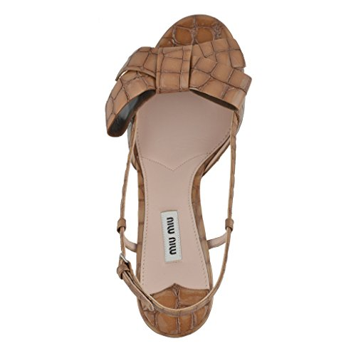 Open Shoes Beige Bow Miu Women's Decorated Miu Heels Sandals High Toe qRTx6Uw