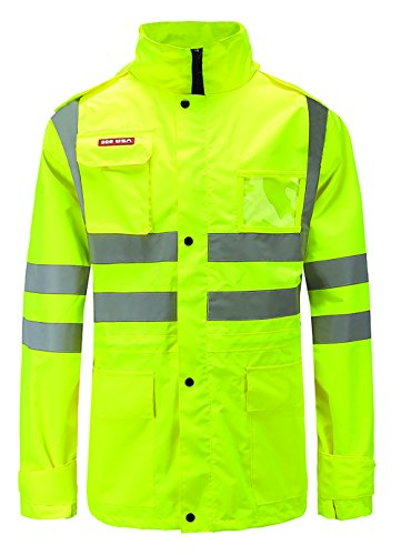 (360 USA ANSI ISEA Class 2 Compliant Premium 300D Oxford Water Proof Reflective Jacket XL)