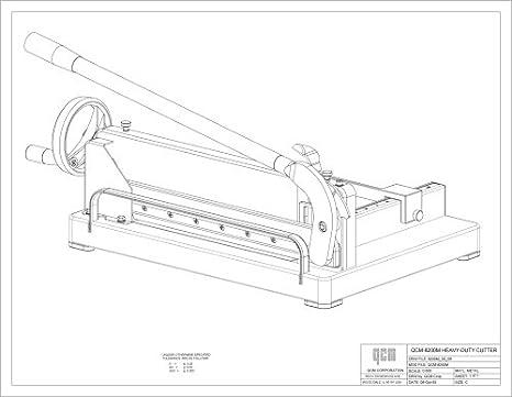 41iFkqSUh9L._SX466_ amazon com qcm 8200m heavy duty desktop stack paper cutter on plumbing job sheet template