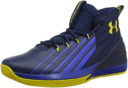 Image of Under Armour Men's Launch Basketball Shoe, Academy (400)/Royal, 10.5