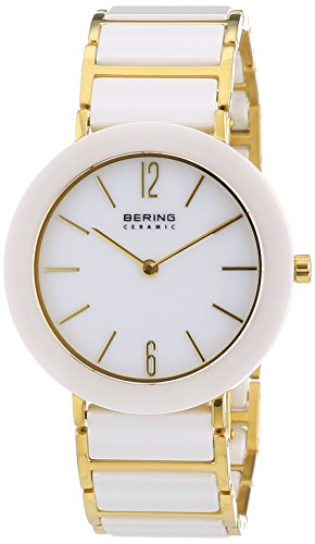 BERING Time 11435-759 Women's Ceramic Collection Watch with Ceramic Link Band and scratch resistant sapphire crystal. Designed in Denmark.