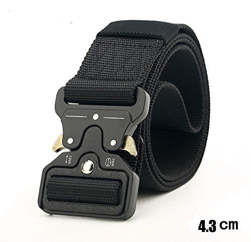 HeroStore Wide 4.3cm Nylon Metal Tactical Gear Heavy Duty Belts Padded Patrol Waist Outdoor Hiking Climbing Hunting Load Bearing Belt 20 by HeroStore (Image #2)