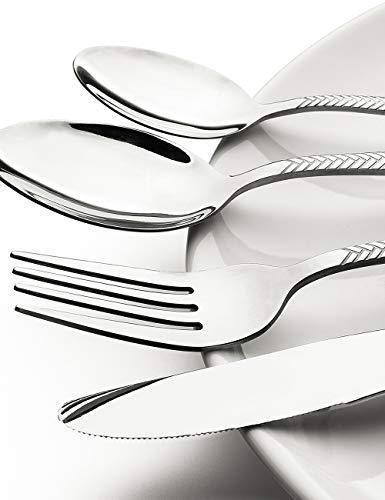 Silverware-Set-Stainless-Steel-Flatware-Sets Heavy Duty 20