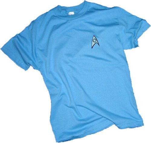 [T-Shirt - Star Trek - Science Uniform Light Blue,Large] (Star Trek Uniform Shirts)