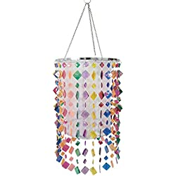 Mini Chandelier Lighting Colorful Acrylic Beaded Lamp Shade for Girls Room,Kids Bedroom,Bathroom 8.85'' X 14.17''