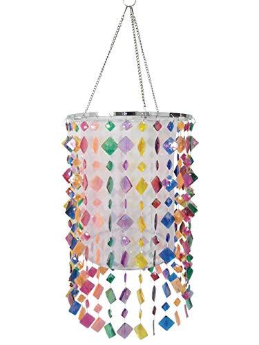 Mini Chandelier Lighting Colorful Acrylic Beaded Lamp Shade for Girls Room,Kids Bedroom,Bathroom 8.85'' X 14.17''