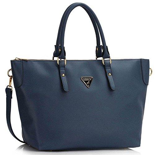 Xardi London sobredimensionado bolsos mujer piel sintética bolsas de hombro Cruz Cuerpo Bolsa de viaje CABINA azul marino