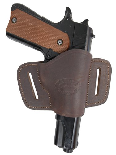 New Barsony Quick Slide Gun OWB Brown Leather Holster for WALTHER P88 P99 left